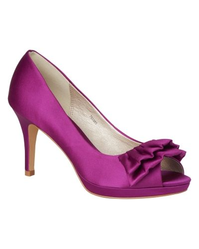 Phase Eight Frill Detail Satin Court Shoes