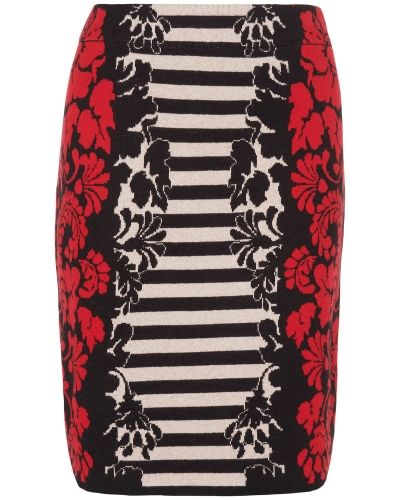 Phase Eight Janet Jacquard Stripe Skirt