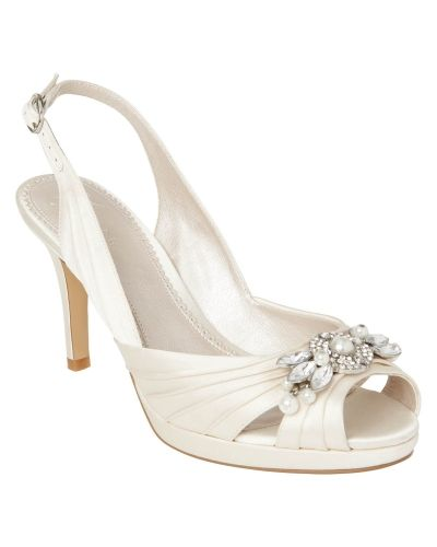 Finsko Jewel Trim Pleated Shoes från Phase Eight