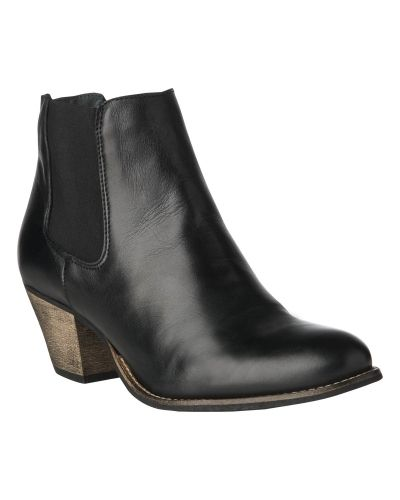 Phase Eight Leather Elasticated Ankle Boot