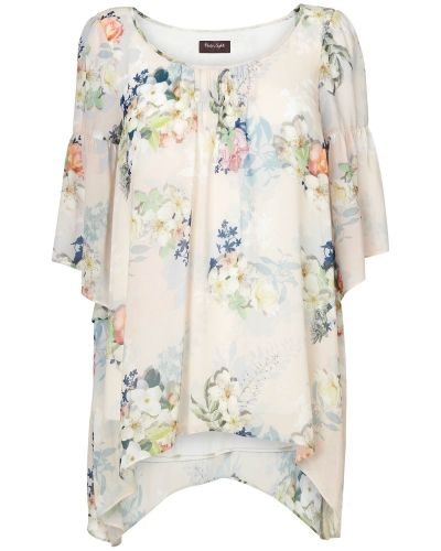 Phase Eight Rosalie Floral Frill Sleeve Blouse