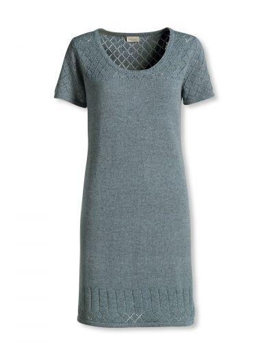 Blå stickade klänning från Bonaparte till dam.