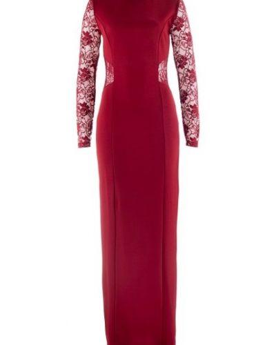 röd klänning långärmad