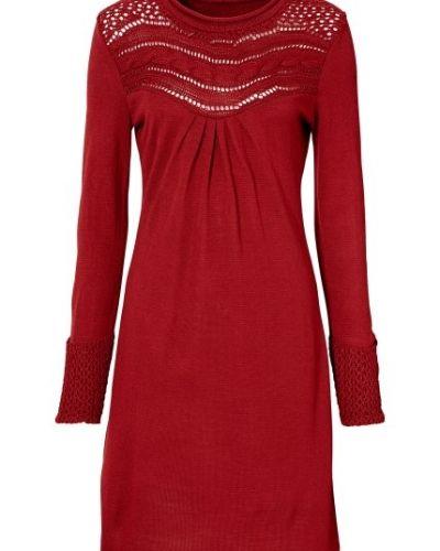 88ee368c0037 Röd stickade klänning från Bodyflirt till dam.