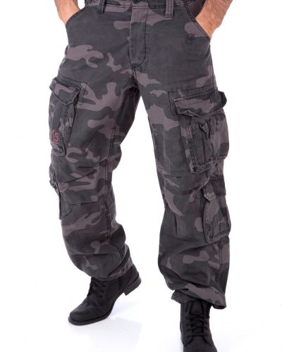 Airborn vintage pants camo black Airborn byxa till herr.