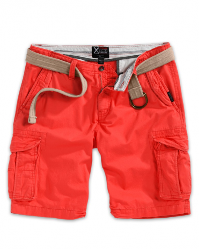 Premium cargo shorts röd - Premium cargobyxa till herr.