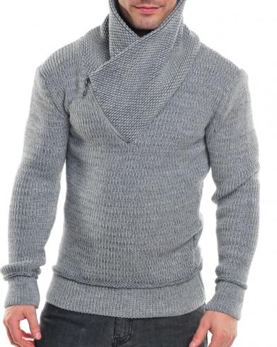 Stickad Stickad tröja paruzzi ljusgrå