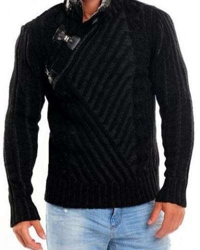svart stickad tröja herr