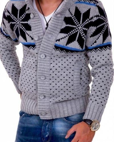 Grå tröja från Tanfoglio till herr.