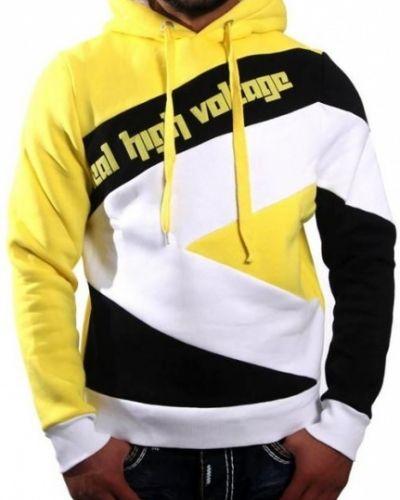 Tröja Voltage hoddie gul/vit/svart - från Voltage