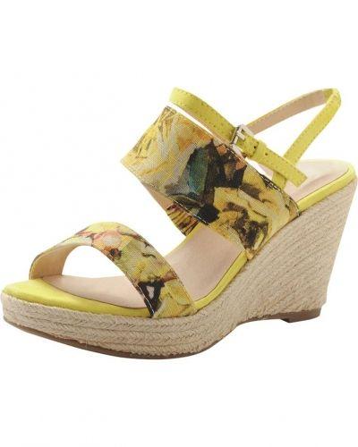 Bast Wedge sandal MAM15 Bianco sandal till dam.