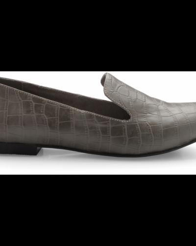 Bianco Croc Loafer JJA14