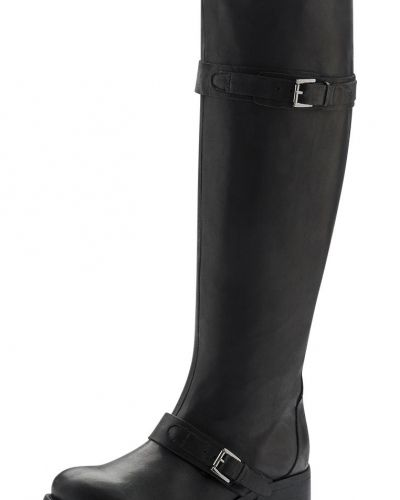 Bianco Long Leather Strap Boot SON14