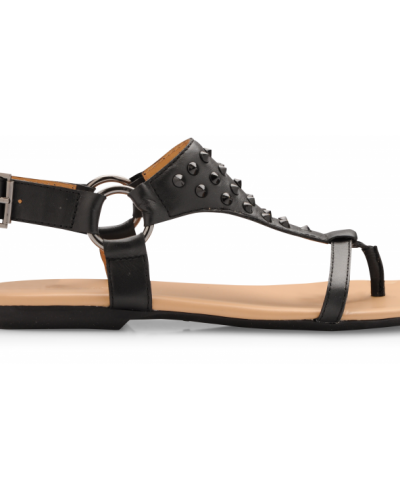 Bianco Napoli Leather Sandal