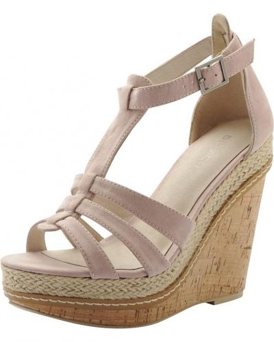 Bianco T-bar Wedge Sandal MAM15