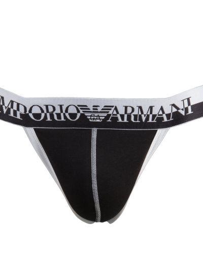 Till herr från Emporio Armani, en svart kalsong.