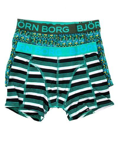 Björn Borg Hunting Boys Shorts Kombu Green 2-pack Björn Borg boxerkalsong till kille.