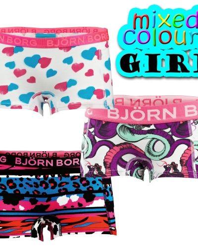 Björn Borg Björn Borg Mini Shorts Girls Mix 3-pack