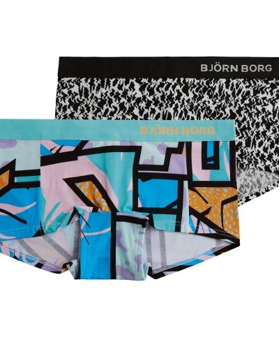 Boxertrosa Björn Borg Mini Shorts Multicolor and Ziggy 2-pack från Björn Borg