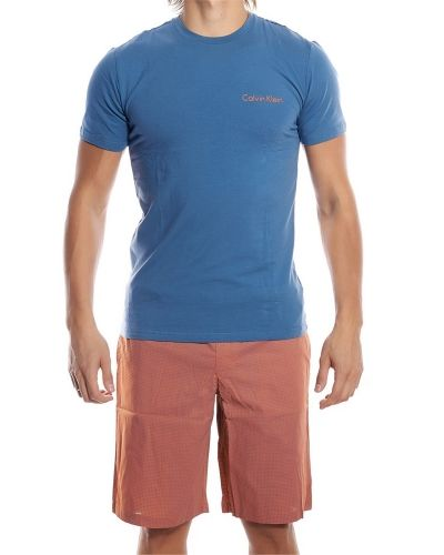 Pyjamas Calvin Klein Shorts and Crew Neck Dust Blue från Calvin Klein