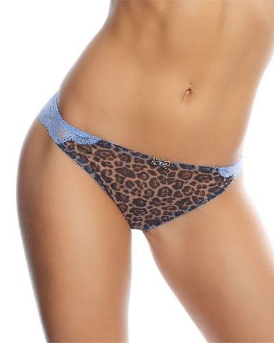 Freya Minx Thong Blue Leopard Freya stringtrosa till dam.