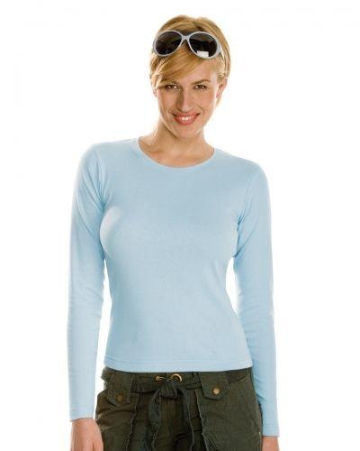 Blå tröja från Hanes till dam.