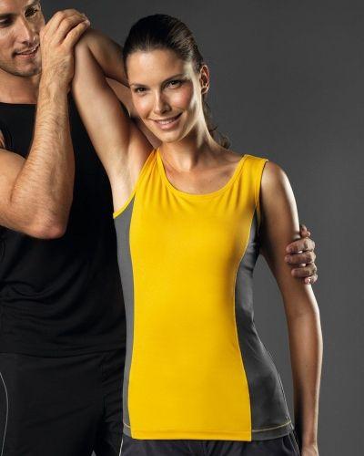 Hanes Sports Tank Top Contrast Women 2-pack från Hanes, Träningslinnen