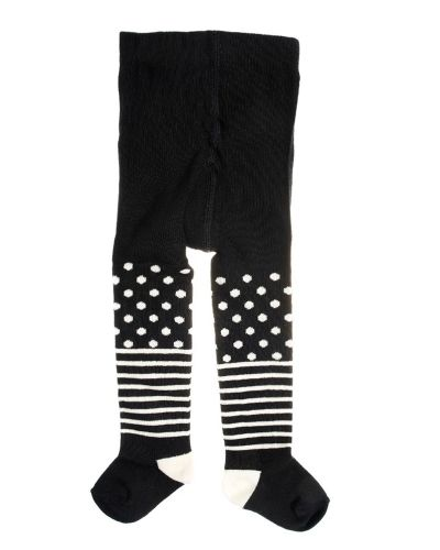 Leggings Happy socks Kids Tights Stripe Dots Black från Happy Socks