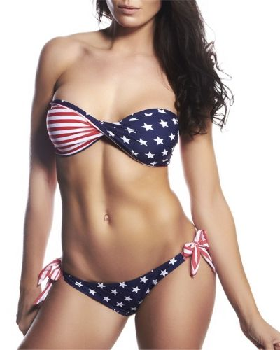 Hot Anatomy USA Bikini Red Hot Anatomy bikini till tjejer.