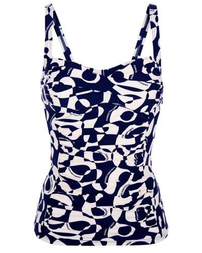 Till tjejer från Panos Emporio, en blå bikini.