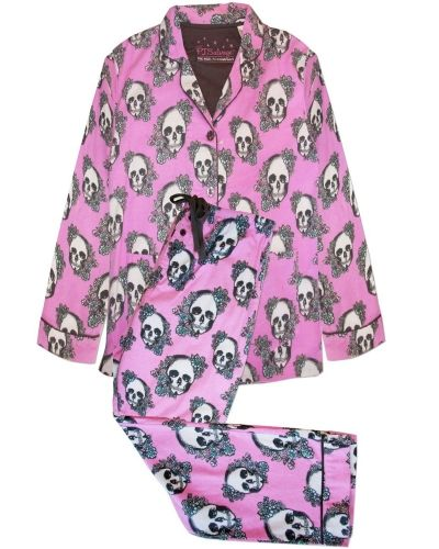 PJ Salvage Pj Salvage Floral Skulls Pj Pajama