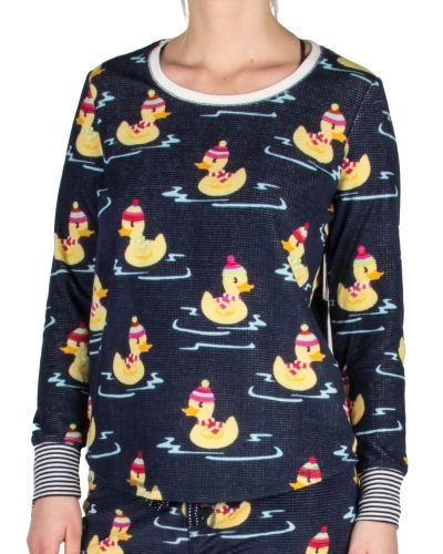PJ Salvage Pj Salvage Winter Ducks Long Sleeve Top