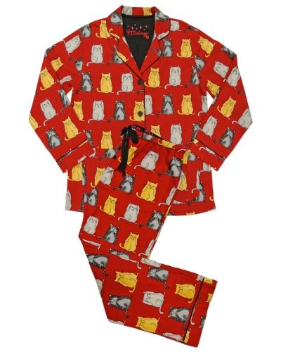 PJ Salvage Pj Salvage Wise Cats Flannel Pajama