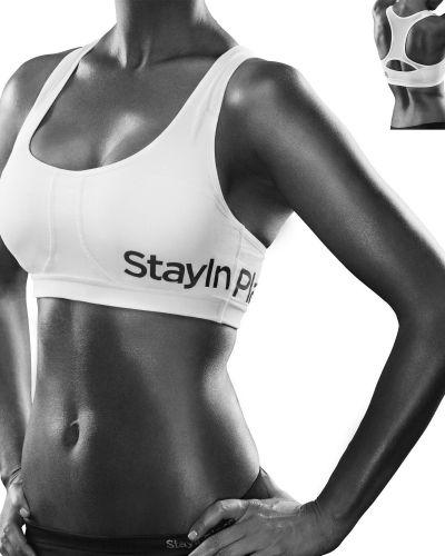 Till tjejer från Stay in place, en svart sport bh.