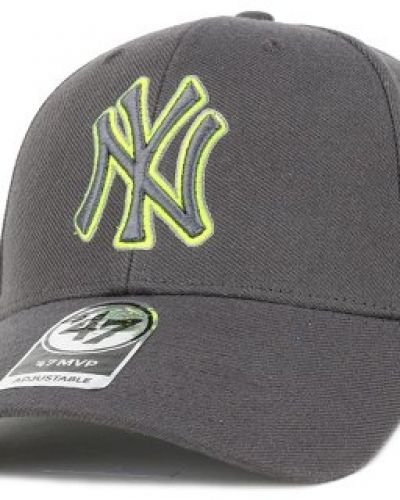 47 Brand - NY Yankees Triple Rush Mvp Charcoal/Lime Green Adjustable 47 Brand keps till unisex/Ospec..