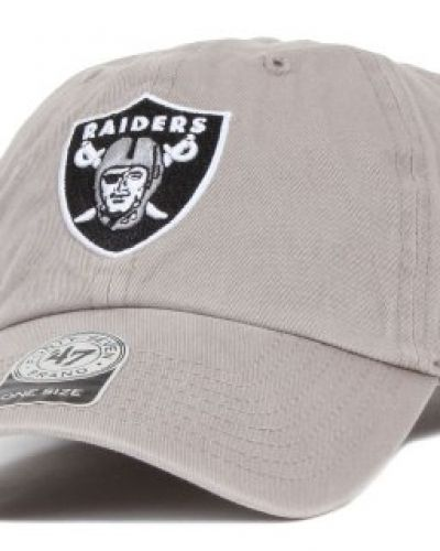 47 Brand - Oakland Raiders Clean Up Adjustable Gray 47 Brand keps till unisex/Ospec..