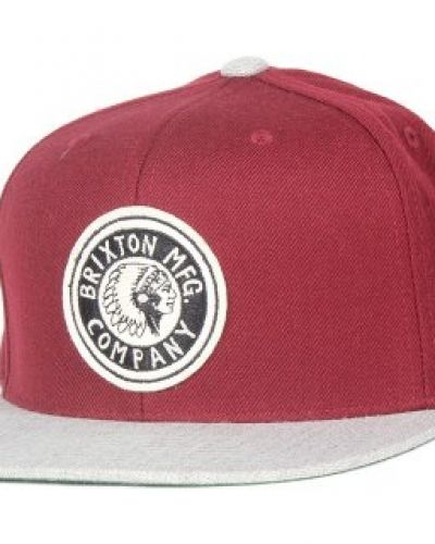 Brixton - Rival Burgundy/Light Heather Grey Snapback Brixton keps till unisex/Ospec..