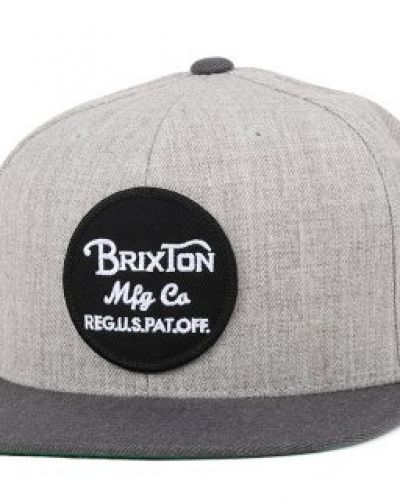 Brixton - Wheeler Light Heather Grey/Charcoal Snapback Brixton keps till unisex/Ospec..