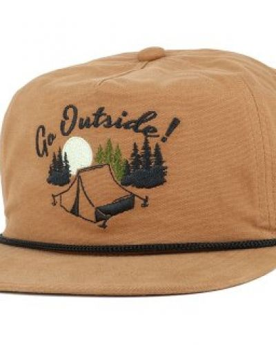 Keps Coal -The Great Outdoors Light Brown Strapback från Coal