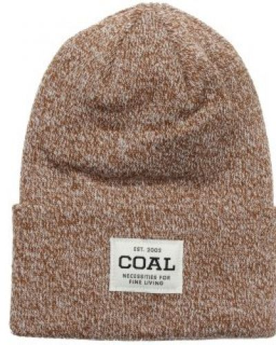 Coal Coal - Uniform Light Brown/Maroon Beanie