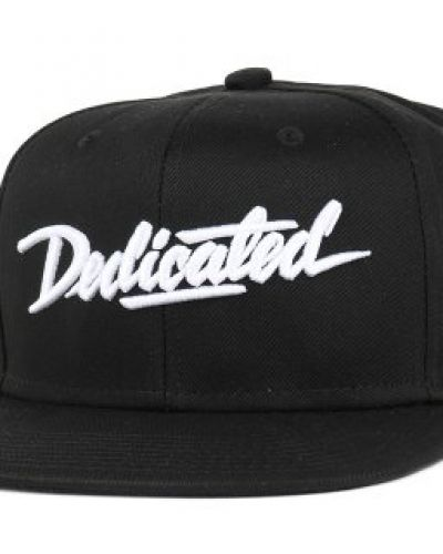 Dedicated - Script Black Snapback Dedicated keps till unisex/Ospec..
