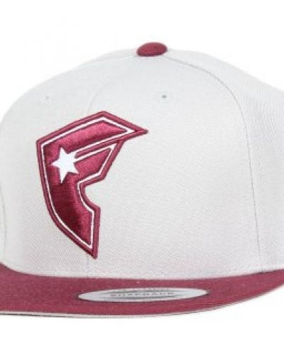 Keps Famous - Official 2-Tone Light Grey/Burgundy Snapback från Famous