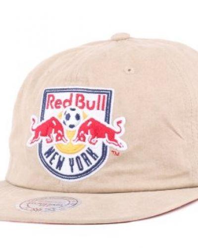 Keps Mitchell & Ness - NY Red Bulls Self Fabric Khaki Strapback från Mitchell & Ness