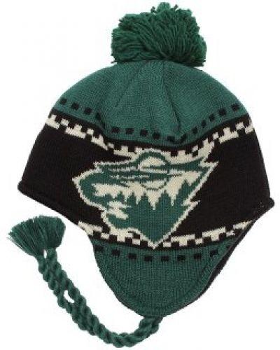 Reebok - Minnesota Wild Faceoff Tassle Knit Reebok mössa till unisex/Ospec..