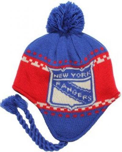 Reebok - NY Rangers Faceoff Tassle Knit Pom Reebok mössa till unisex/Ospec..
