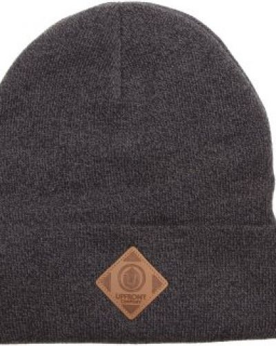 UpFront Upfront - Official Fold Beanie Black/Light Grey