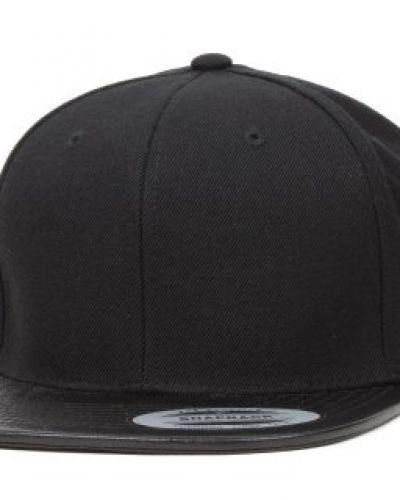 Yupoong Yupoong - Leather Visor Black Snapback