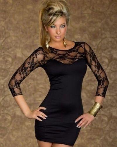 Till dam från Övriga, en svart festklänning.