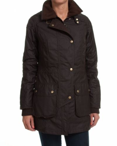Barbour BARBOUR JACKA STOCKYARD WAXED BRUN/BORDEAUX - 40/UK14