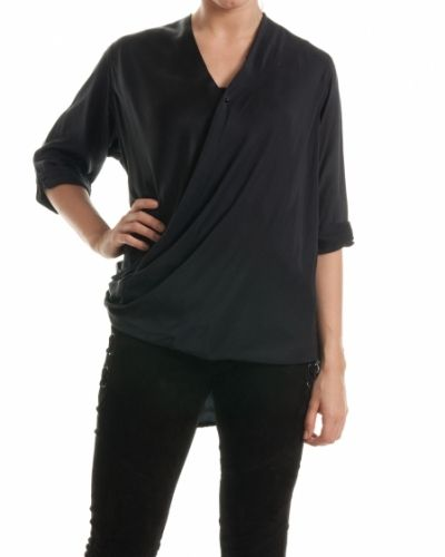 Hunkydory Hunkydory blus twist wrap black